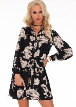 Елегантна къса рокля с дълъг ръкав Mouna