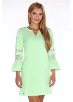 Елегантна къса рокля с разкроен ръкав Megarnina