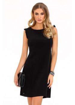 Елегантна къса рокля в черно