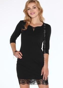 Елегантна къса рокля в черно Beverlem