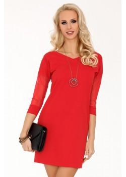 Елегантна къса рокля в червено Betanisa