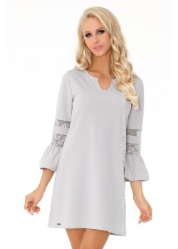 Елегантна къса рокля в сиво Megarnina