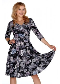 Елегантна миди рокля с 3/4 ръкав Aniali
