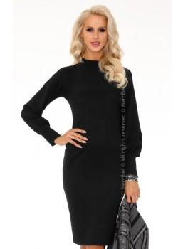 Елегантна миди рокля в черно Nilimana