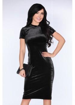 Елегантна миди рокля в черно Prudenca