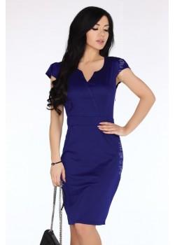 Елегантна миди рокля в лилав цвят Lavanyam
