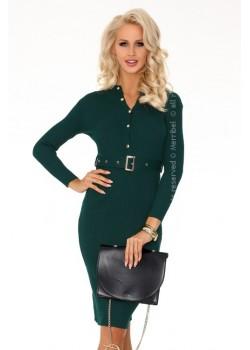 Елегантна миди рокля в зелен цвят Anselmi