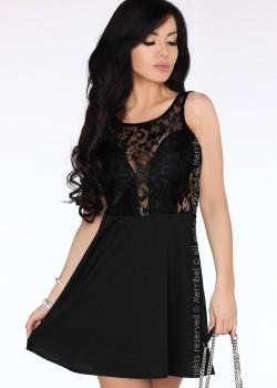Елегантна мини рокля в черно Keita