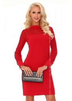 Елегантна мини рокля в червено Venetiana