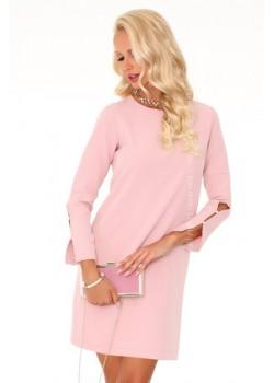 Елегантна мини рокля в розово Mehvesa