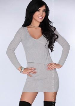 Елегантна мини рокля в сиво CG016
