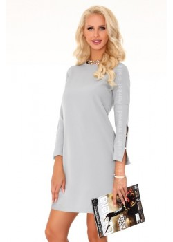 Елегантна мини рокля в сиво Mehvesa