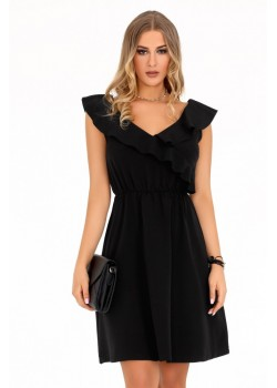 Елегантна рокля Annag в черен цвят