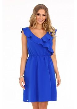 Елегантна рокля Annag в син цвят