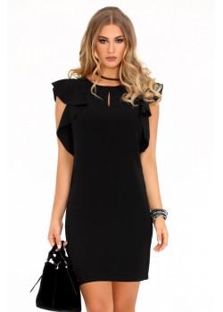 Елегантна рокля Marjoleina в черен цвят