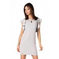 Елегантна рокля Marjoleina в сив цвят