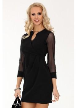 Елегантна рокля Nisamina в черен цвят