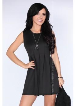 Ежедневна къса рокля в черно CG001