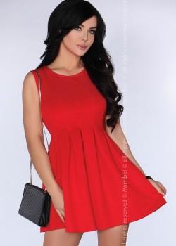 Ежедневна къса рокля в червено CG001