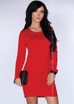 Ежедневна къса рокля в червено CG005