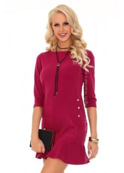 Ежедневна къса рокля в цвят бордо Marima