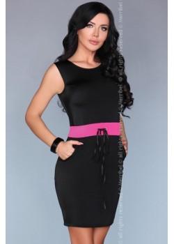 Ежедневна мини рокля в черно