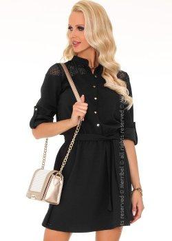 Ежедневна мини рокля в черно Amrosin