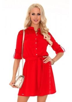 Ежедневна мини рокля в червено Amrosin