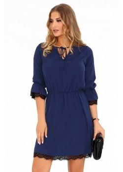 Ежедневна рокля Shanice в тъмносин цвят