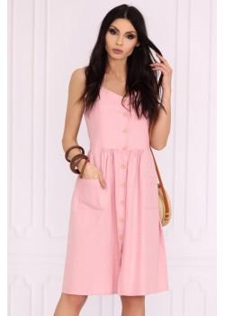 Ежедневна рокля в розов цвят Akminas