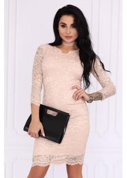 Къса рокля  в розов цвят