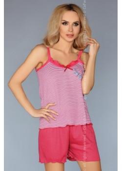 Лятна дамска пижама в цвят корал