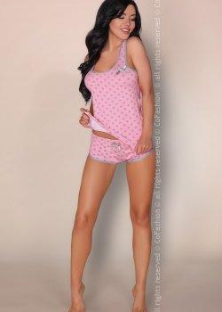 Лятна дамска пижама в лилаво