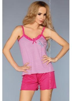 Лятна дамска пижама в розов цвят