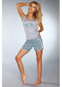 Лятна дамска пижама в зелен цвят