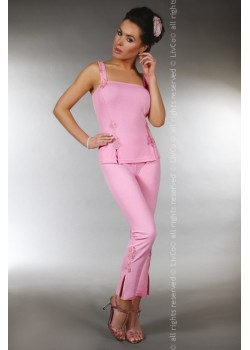 Памучна пижама в розов цвят Kame