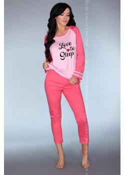 Памучна пижама в розов цвят Malblea