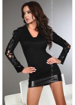Секси черна рокля Odilia