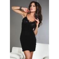 Секси черна рокля с прашки Brigitte