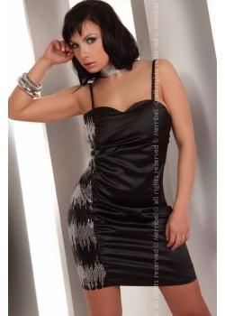 Секси мини рокля в черно Hathor