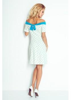 Бяла рокля на котви 100-1