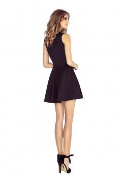 Черна миди рокля с цип 123-12