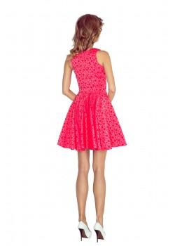 Миди рокля в цвят малина 125-13