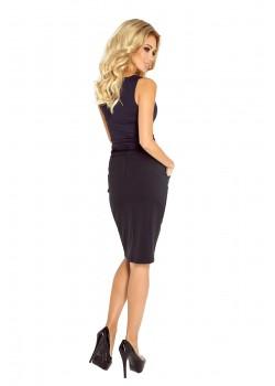 Миди пола в черен цвят 127-4