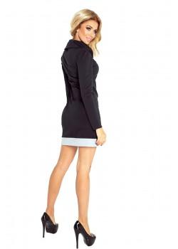 Ежедневна мини рокля с яка 129-2