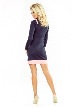 Ежедневна мини рокля с яка 129-5