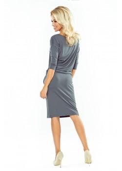 Ежедневна миди рокля в сиво 13-75