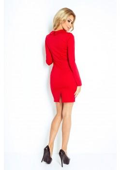 Елегантна мини рокля с яка 130-2