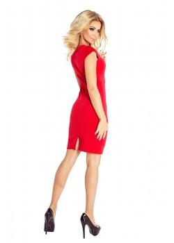 Червена мини рокля 132-2