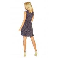 Елегантна къса рокля в цвят графит 137-3